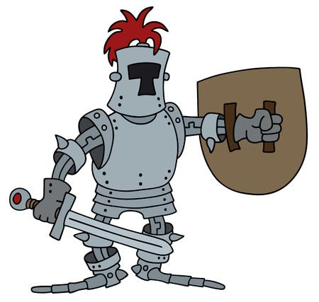 Hand drawing of a funny knight Vektorové ilustrace