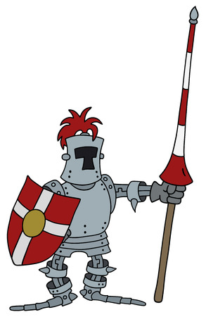Hand drawing of a funny knight