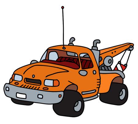 breakdown truck: Hand drawing of a vehicle breakdown service