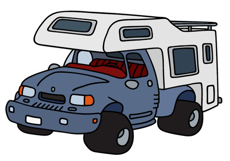 Hand drawing of a funny recreational vehicle
