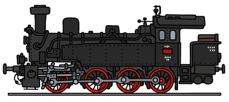 steam locomotive: Hand drawing of a vintage steam locomotive
