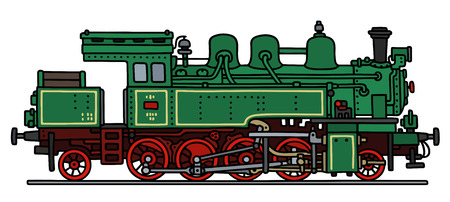 steam locomotive: Hand drawing of a classic steam locomotive
