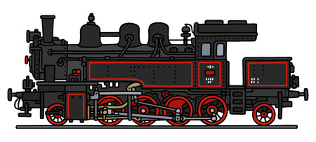 steam locomotive: Hand drawing of an old steam locomotive