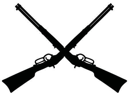 flintlock: Vintage black american rifles