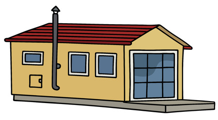 Hand drawing of a funny small house