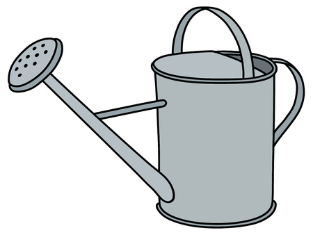 Hand drawing of a tin watering can Illustration
