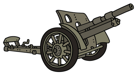 bombard: Hand drawing of a vintage cannon Illustration