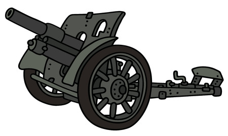 Hand drawing of a vintage cannon Illustration