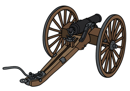 Hand drawing of a historic cannon Illustration