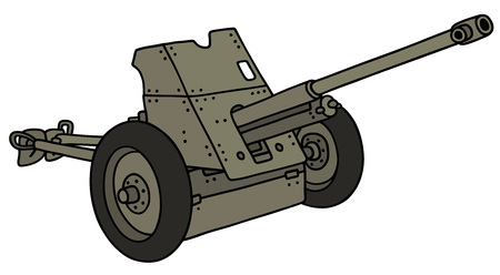 bombard: Hand drawing of an old cannon Illustration