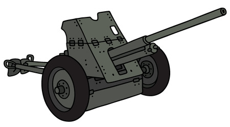 Hand drawing of an old cannon Illustration