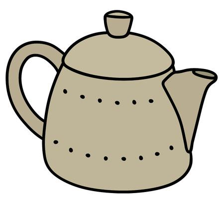 hot tub: Hand drawing of a ceramic pot