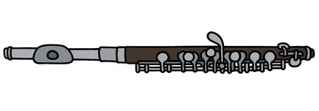 fife: Hand drawing of a piccolo