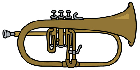 Hand drawing of a trumpet Illustration