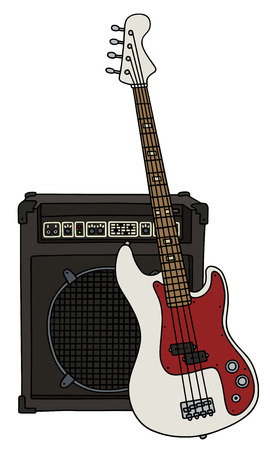 Electric bass guitar and the combo