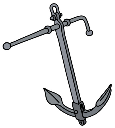sailer: Hand drawing of a classic metal anchor