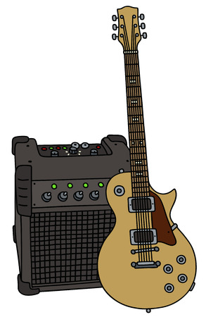 sound box: Electric guitar and the combo Illustration