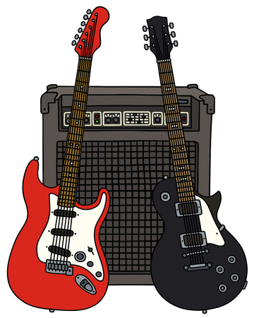 combo: Two electric guitars and the combo