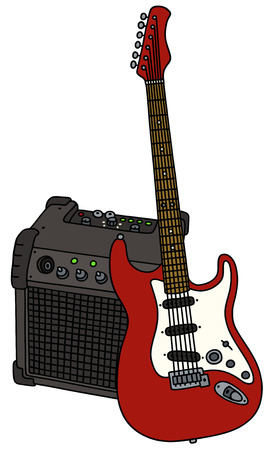 combo: Electric guitar and the combo Illustration