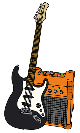 Electric guitar and the combo Illustration