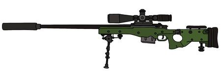 Green sniper rifle