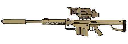 gunsight: Sand big sniper rifle Illustration