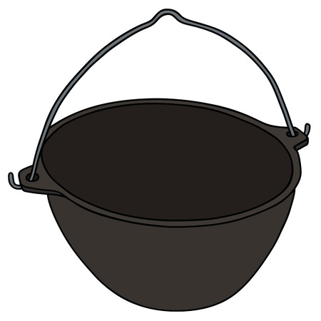 Hand drawing of a classic black kettle