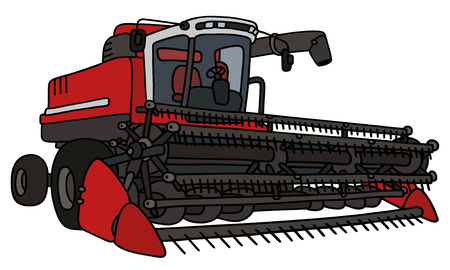 Hand drawing of a red harvester