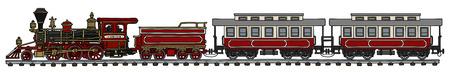 steam iron: Classic American steam train