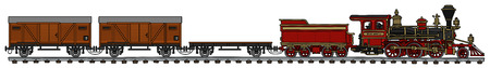 tren de vapor clásico americano