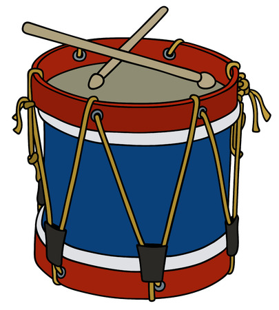 Hand drawing of a classic military drum