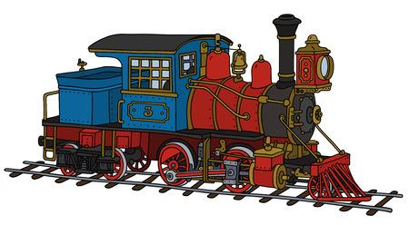 steam locomotive: Funny vintage American steam locomotive