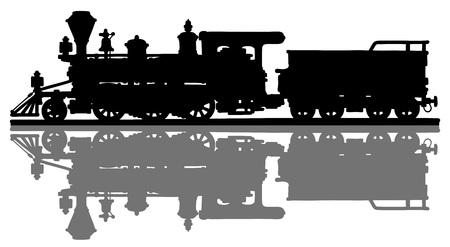 Historique locomotive à vapeur américaine