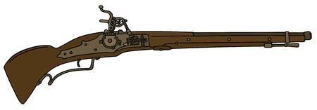 mosquetero: fusil de chispa histórica Vectores