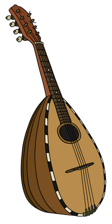 mandolin: Hand drawing of a vintage italy mandolin