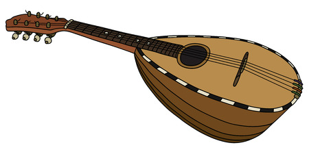 tremolo: Hand drawing of an old italy mandolin Illustration