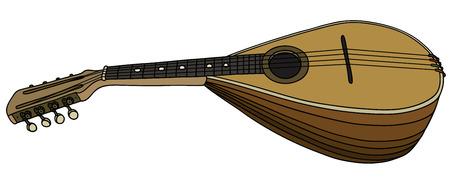 Hand drawing of a vintage mandolin Illustration