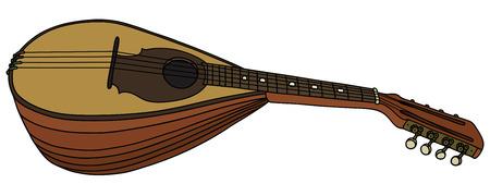 Dessin à la main d'une ancienne mandoline