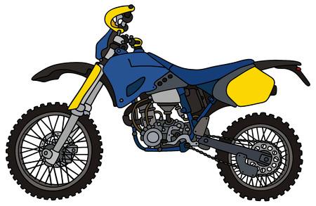 Blue racing motocross bike Illustration