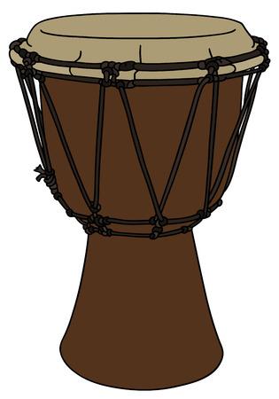 ethno: Classic wooden drum ethno