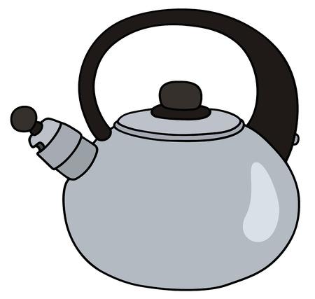 stainless: Stainless steel teapot Illustration