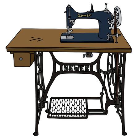 Classic Treadle naaimachine Vector Illustratie