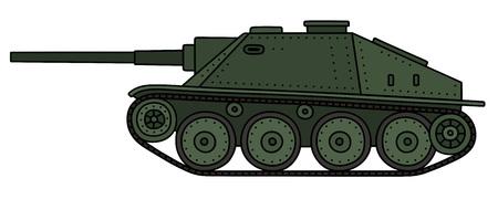 Vintage green tank destroyer
