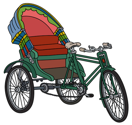 rikscha: Klassische Bangladeshi Zyklus Rikscha Illustration