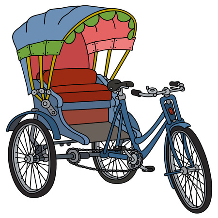 Classic cycle rickshaw Vetores