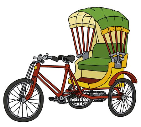 Classic Bangladeshi cycle rickshaw Vector Illustration