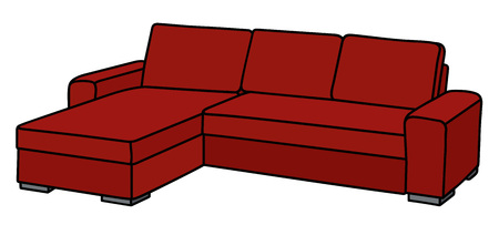 Big red couch