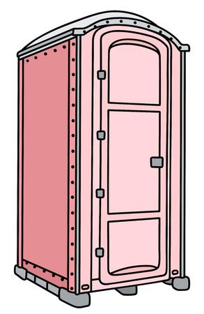 Pink mobile toilet Illustration