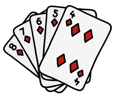 Diamonds strew of funny poker cards