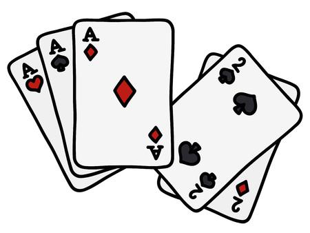 Full house of poker cards